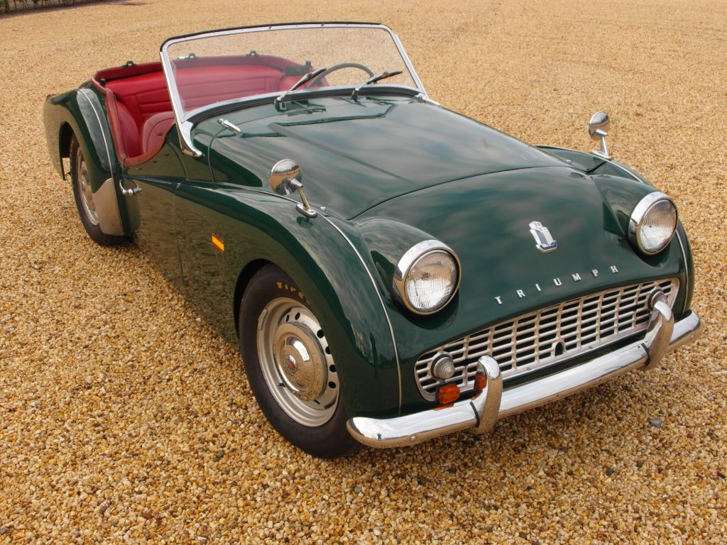 Triumph TR3A,  roadster, LHD,  1960,  SOLD