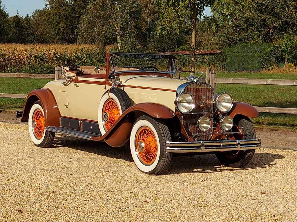 Cadillac 341A, convertible coupé, 1928, V8, lhd,  NEW PRICE: € 129.000,-