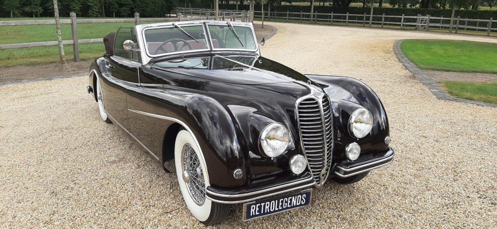 Delahaye    SOLD    135M, 3 carburettors, convertible 1950, rhd